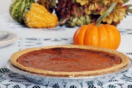 pumpkin pie: pumpkin pie shallow depth of field