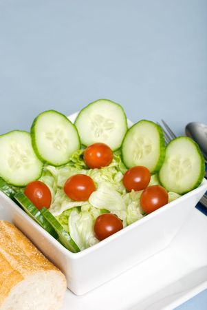 tossed salad closeup