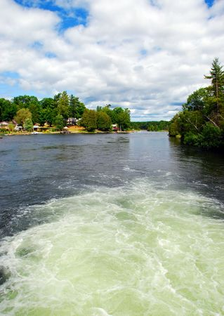 the rapids: Rapids on a River