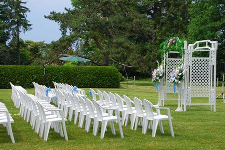 setup: Wedding Setup Stock Photo