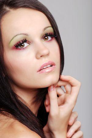 유럽의: young european fashion model 스톡 사진