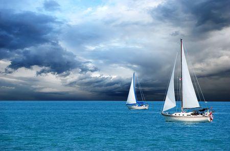ocean waves: sailing after a storm