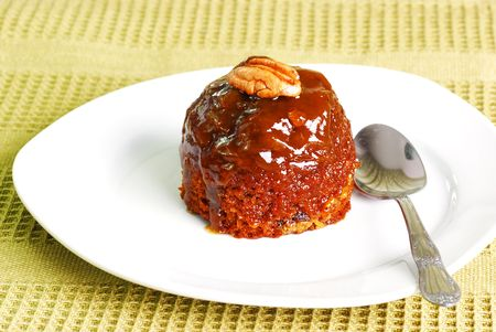 Toffee pudding Stock Photo