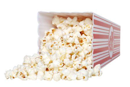 popcorn: Popcorn versato  Archivio Fotografico