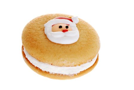 typical: christmas cookie focus on santa face Stock Photo