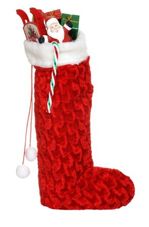 christmas sock: christmas sock filled with toys and candy