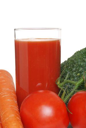 closeup vegetable juice photo