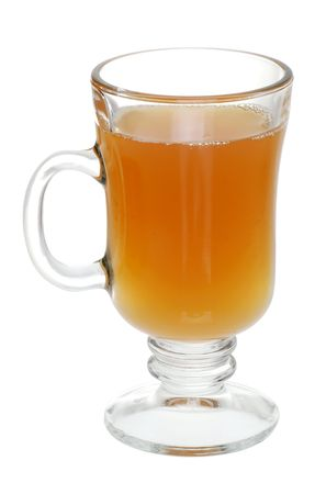 mulled: glass of mulled apple cider