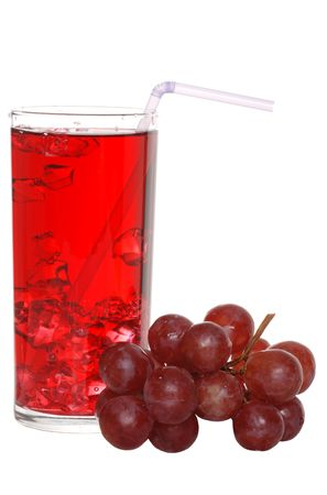 grape juice with a straw photo