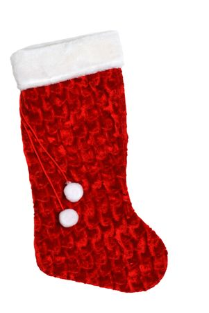 christmas sock: isolated christmas sock
