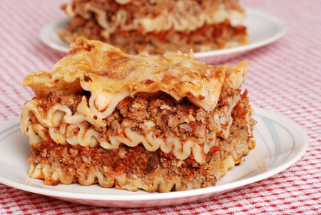 lasagna on a plate Stock Photo - 5923321