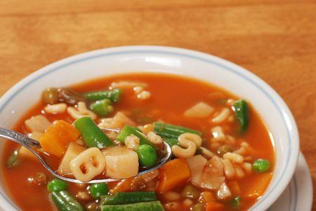 chunky: tasty chunky vegetable soup