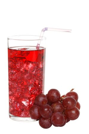 and grape juice: Grape Juice With A Straw Stock Photo