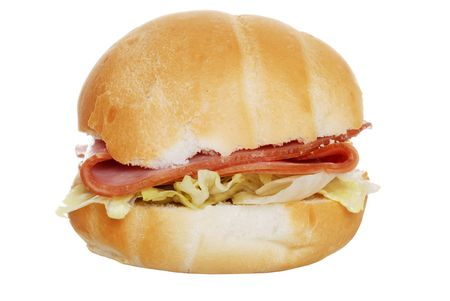 Ham And Lettuce In A Bun photo