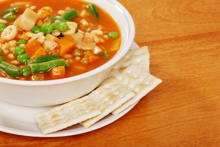 top view vegetable soup Stock Photo - 5951481