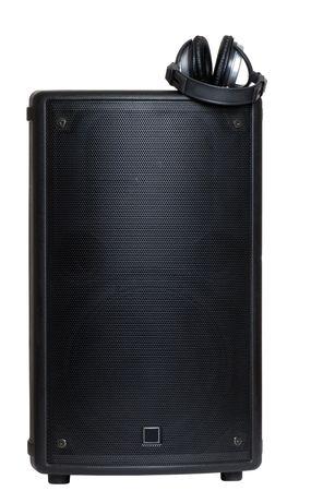 monitor speaker with headphones photo