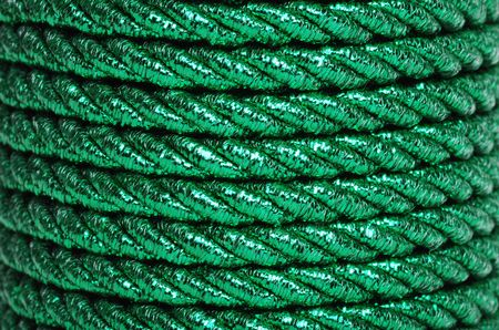foil: Green Foil Cord Making A Background