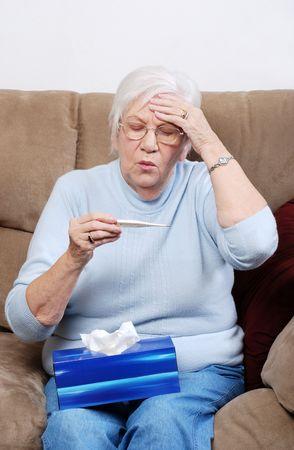 senior with a fever
