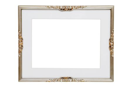 silver background: Antique Silver Frame