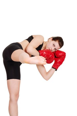 female kick boxer photo
