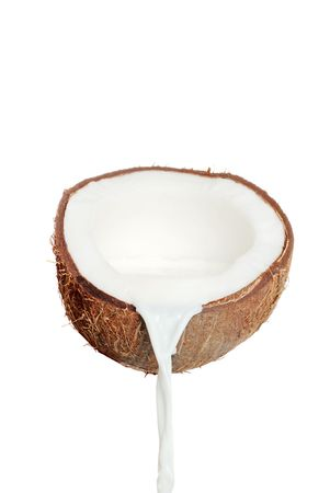 with coconut: fresh coconut and milk