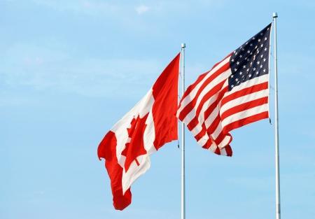 canadian flag: canadian usa flag