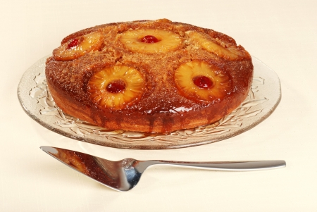 upside down: pineapple upside down cake with cherries