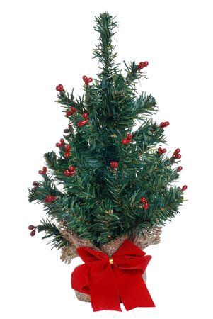 fake christmas tree: fake mini christmas tree Stock Photo