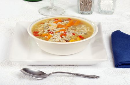 homemade chicken and wild rice soup photo