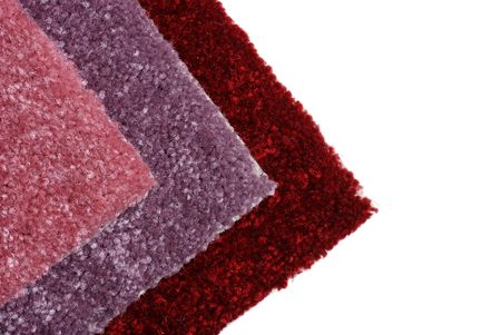 shades of red carpet samples Stock Photo