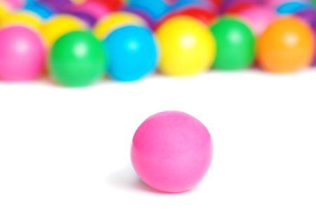 pink gum ball Stockfoto