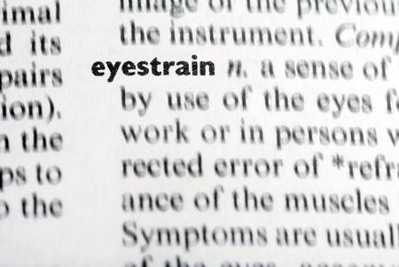 eyestrain: eyestrain