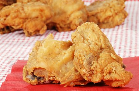 suppertime: two pieces fried chicken