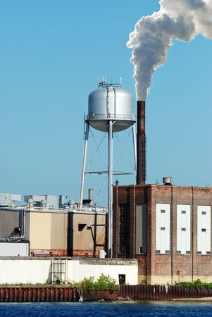 industrial factory water tower photo