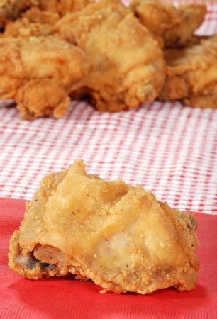 suppertime: closeup fried chicken