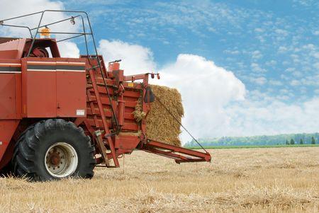 baler: hay baler in the field