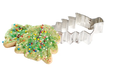 cutter: christmas tree cookie with cutter
