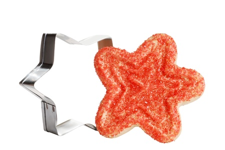 cutter: christmas star cookie with cutter