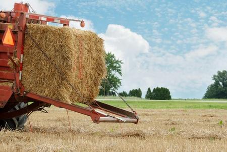 baler: closeup of a hay baler