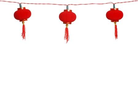 격리 된 행 중국어 등불