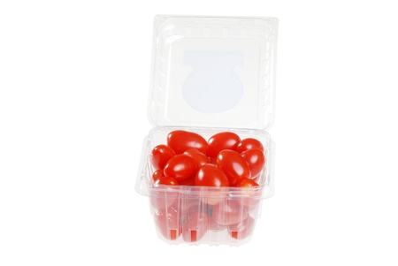 cherry tomatoes in a plastic container photo