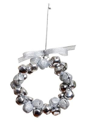 silver bell wreath ornament Stock Photo - 8880419