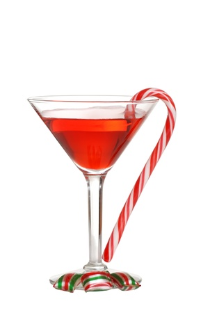 Christmas candies with a red martini Stock Photo - 8880413