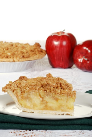 apple crumble with fresh fruit photo