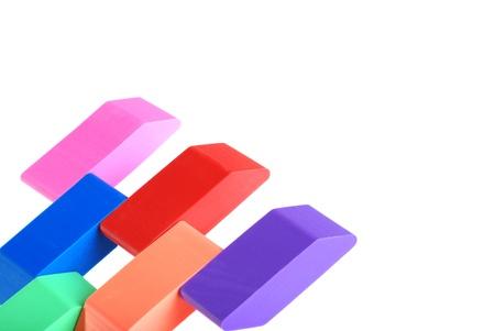 closeup of erasers Stock Photo - 9164448