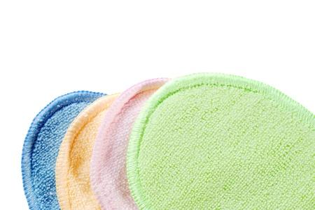 orange washcloth: colorful terry cloth Stock Photo