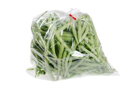 fresh green beans in a bag photo
