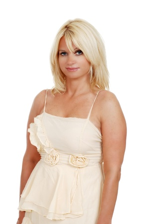 Blond Woman in Abendkleid Standard-Bild - 9820371