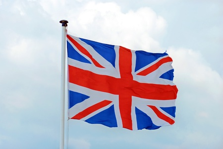 old torn British flag Stock Photo - 9820404
