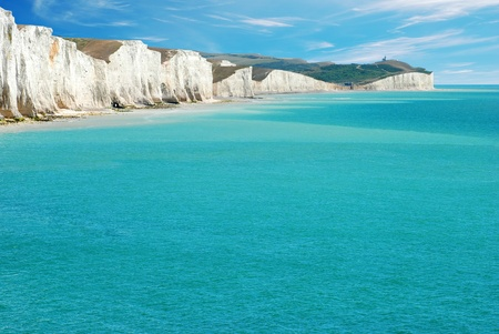 costal: Seven Sisters East Sussex England Stock Photo